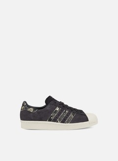 Adidas Originals - WMNS Superstar 80s, Utility Black/Utility Black/Off White 1