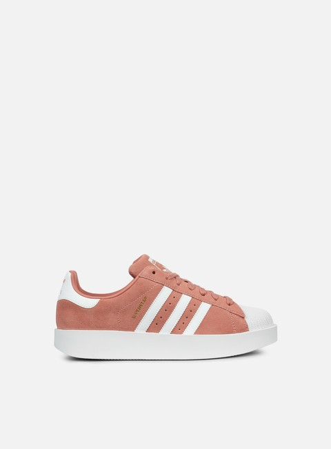 sneakers adidas originals wmns superstar bold ash pink white gold metallic