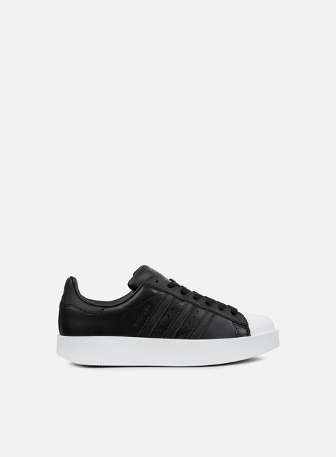 sneakers adidas originals wmns superstar bold core black core black white