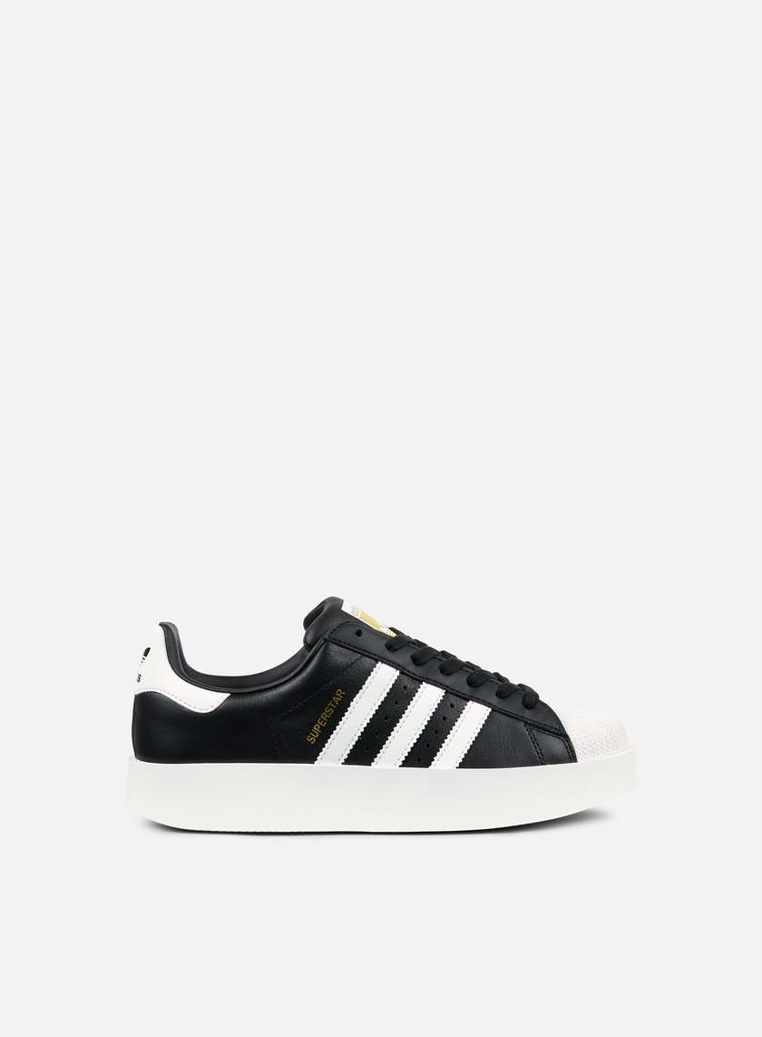 Adidas Originals - WMNS Superstar Bold, Core Black/Footwear White/Gold Metallic