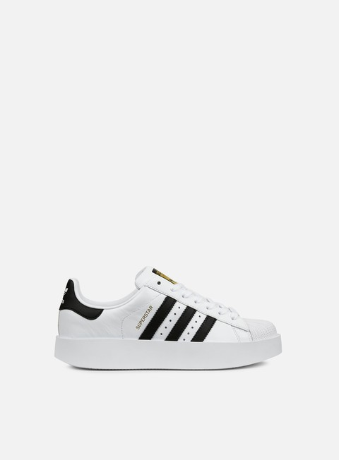 sneakers adidas originals wmns superstar bold white core black gold metallic