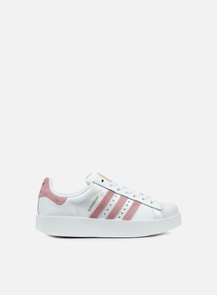 Adidas Originals - WMNS Superstar Bold, White/Wonder Pink/Gold Met 1