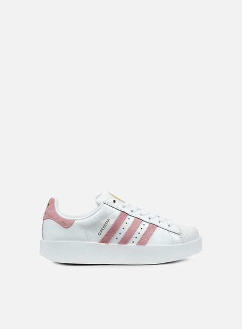 sneakers adidas originals wmns superstar bold white wonder pink gold met