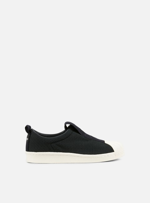 sneakers adidas originals wmns superstar bw35 slip on core black off white