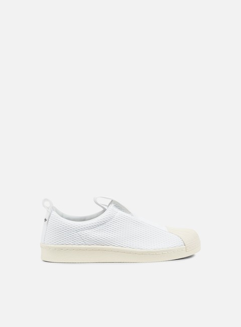 sneakers adidas originals wmns superstar bw35 slip on white off white