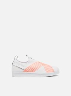 Adidas Originals - WMNS Superstar Slip On, Ftwr White/Clear Orange/Ftwr White
