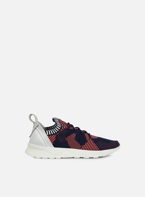 sneakers adidas originals wmns zx flux adv virtue primeknit shock red collegiate navy shock red