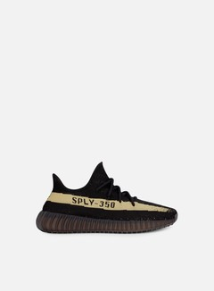 Adidas Originals - Yeezy Boost 350 V2, Core Black/Green/Core Black 1