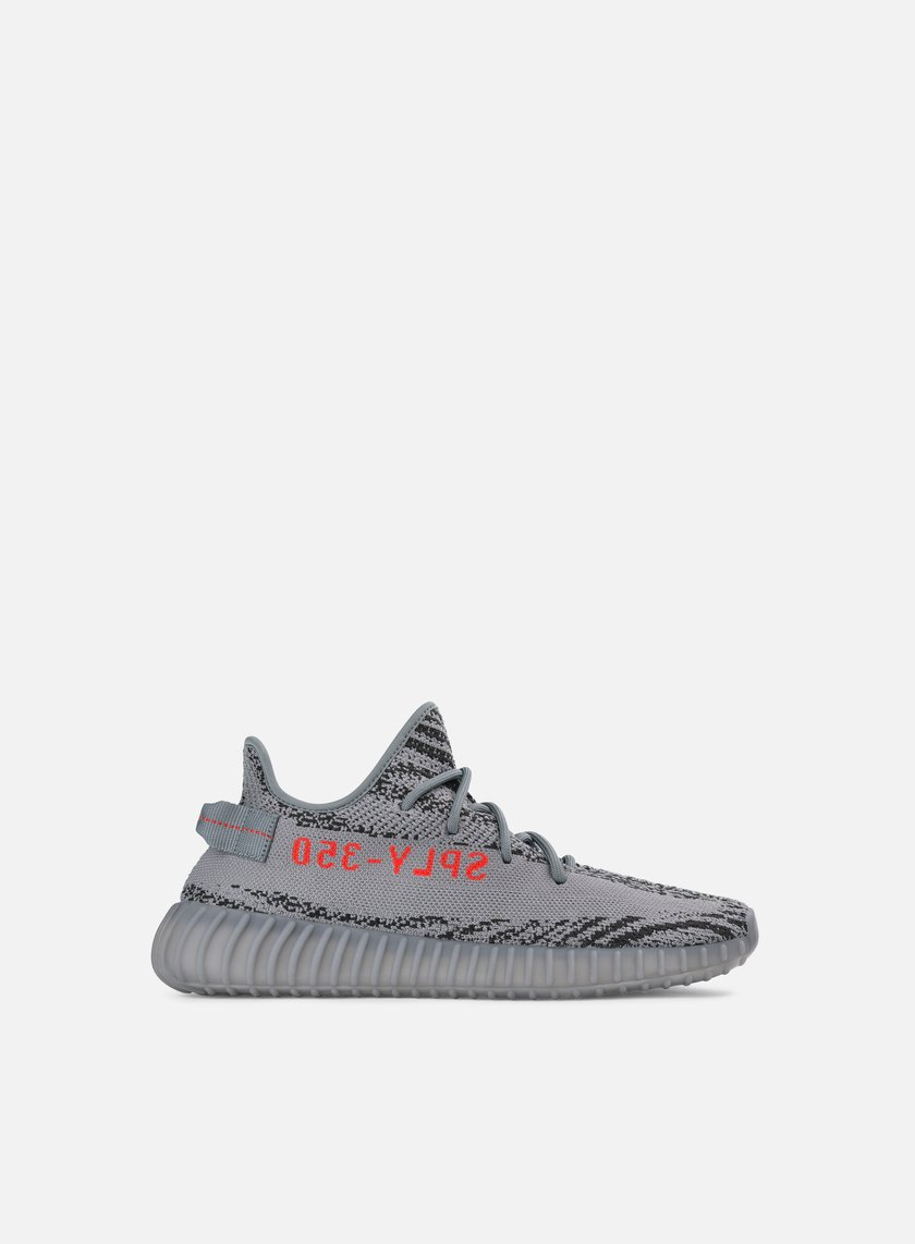 Adidas Originals - Yeezy Boost 350 V2, Grey/Bold Orange/Dgh Solid Grey
