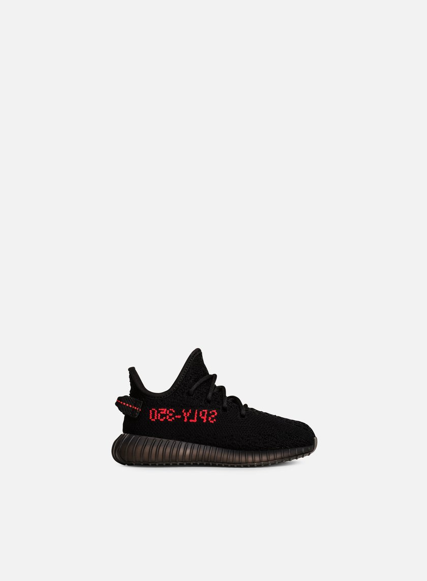 Adidas Originals - Yeezy Boost 350 V2 Infant, Core Black/Core Black/Red