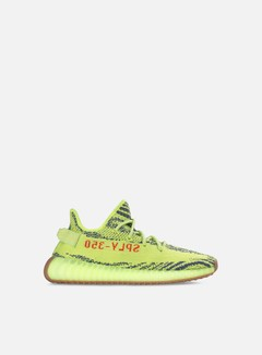 Adidas Originals - Yeezy Boost 350 V2, Semi Frozen Yellow/Raw Steel/Red