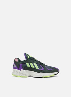 Adidas Originals - Yung-1, Legend Ivy/Hi-Res Yellow/Active Purple