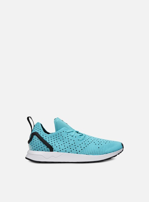 sneakers adidas originals zx flux adv asymmetrical primeknit blue glow core black core black