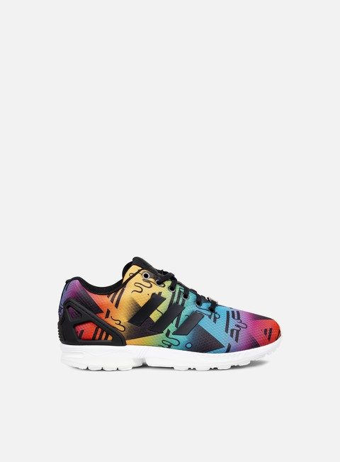 sneakers adidas originals zx flux core black running white multi