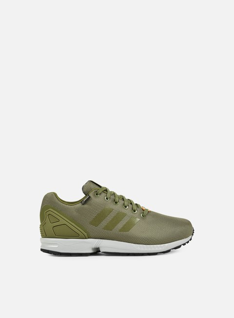 sneakers adidas originals zx flux gtx olive cargo university orange mgh solid grey