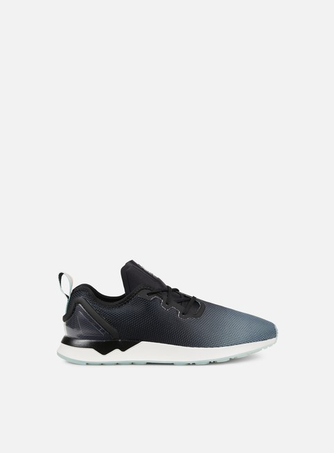 sneakers adidas originals zx flux racer adv asymmetrical core black core black blue glow