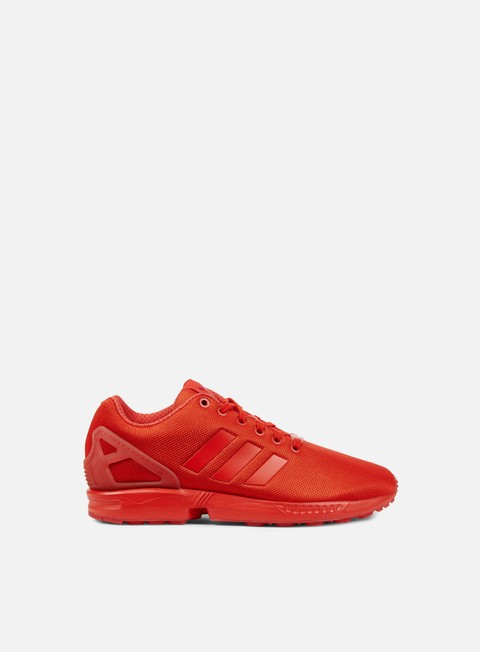 sneakers adidas originals zx flux red red red