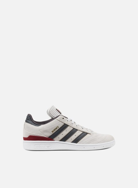 sneakers adidas skateboarding busenitz grey one customized burgundy