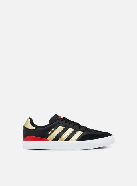 sneakers adidas skateboarding busenitz vulc rx core black gold metallic scarlet