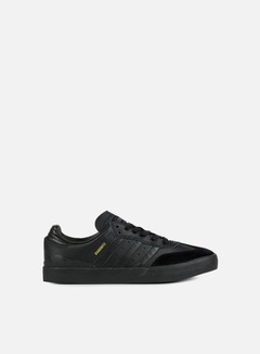 Adidas Skateboarding - Busenitz Vulc Samba Edition, Core Black/Core Black/Dark Grey Solid Grey