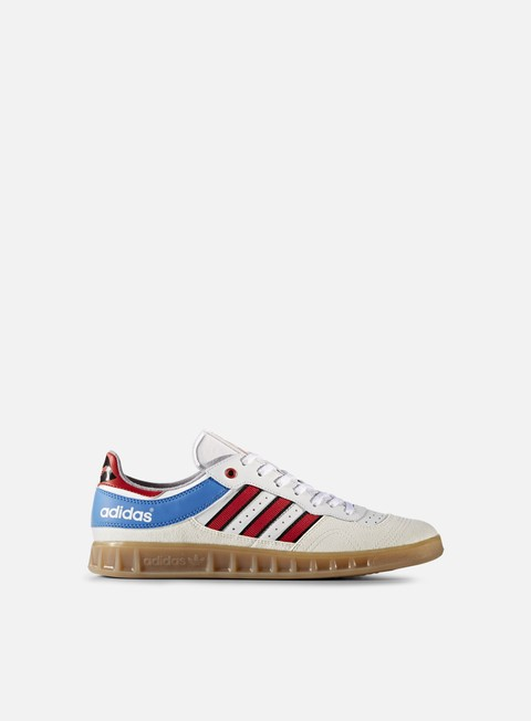 sneakers adidas skateboarding handball top vintage white red bright royal