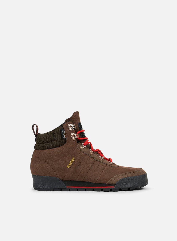 Adidas Skateboarding - Jake Boot 2.0, Brown/Scarlet/Core Black