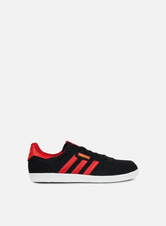 Adidas Skateboarding - Leonero, Core Black/Scarlet, Tactile Yellow