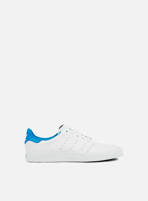 sneakers adidas skateboarding seeley court white white bright blue