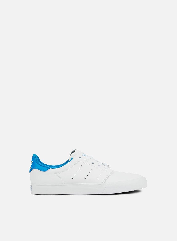 Adidas Skateboarding - Seeley Court, White/White/Bright Blue