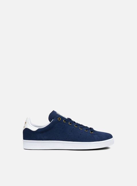 sneakers adidas skateboarding stan smith vulc mystery blue white matte gold