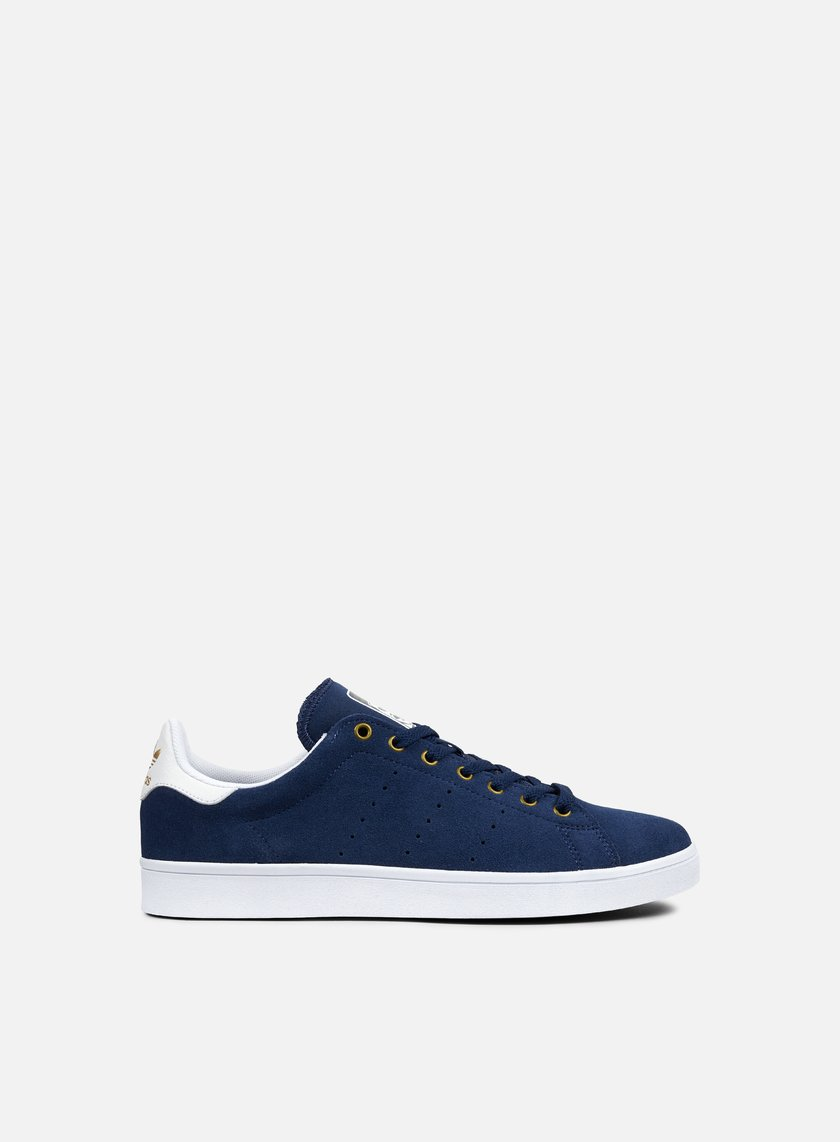 Adidas Skateboarding - Stan Smith Vulc, Mystery Blue/White/Matte Gold