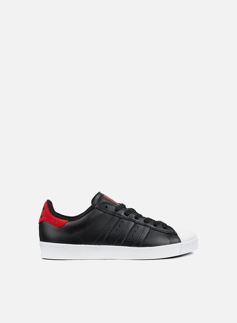 sneakers adidas skateboarding superstar vulc adv core black scarlet white