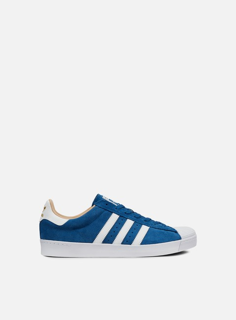 sneakers adidas skateboarding superstar vulc adv core blue white gold metal