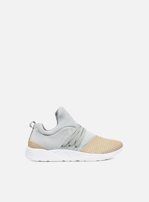 sneakers arkk raven light grey nude nubuck