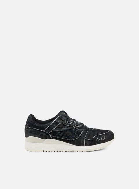 sneakers asics gel lyte iii black black denim