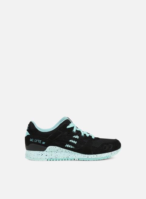 sneakers asics gel lyte iii black black open mesh