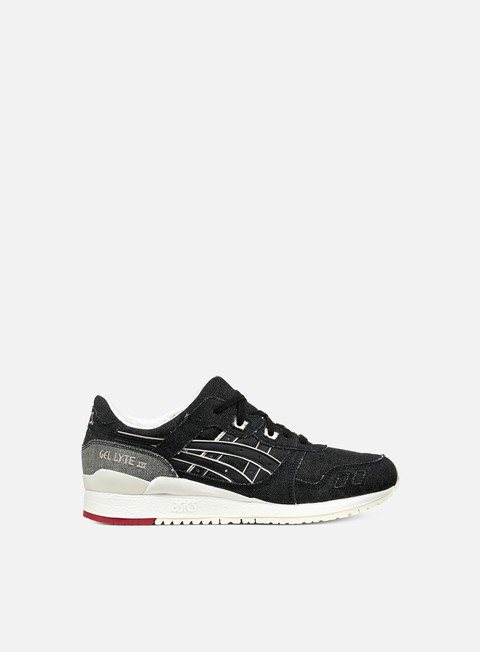 sneakers asics gel lyte iii black black selvedge denim