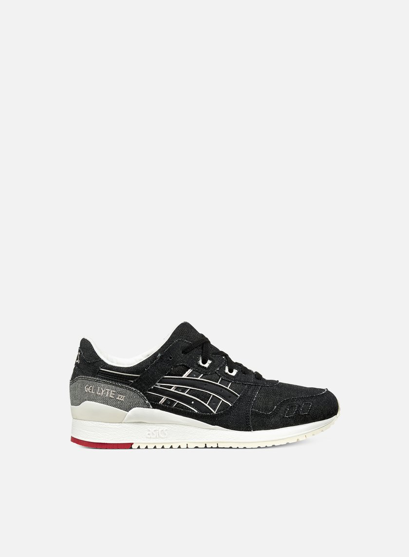 Asics - Gel Lyte III, Black/Black/Selvedge Denim