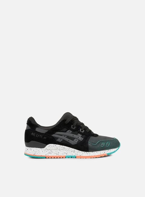 sneakers asics gel lyte iii black black turquoise