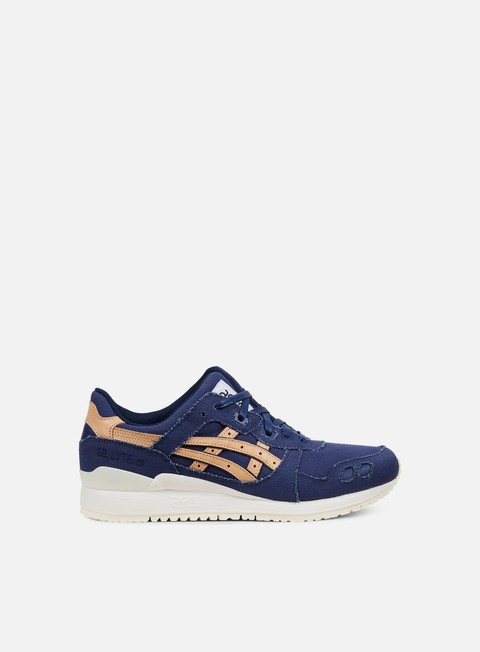 sneakers asics gel lyte iii indigo blue tan