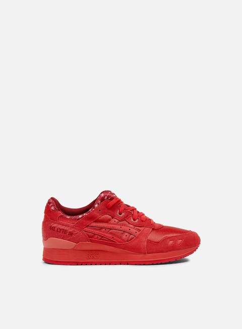 sneakers asics gel lyte iii red red valentine