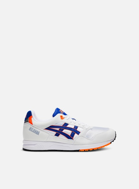 sneakers asics gel saga white asics blue