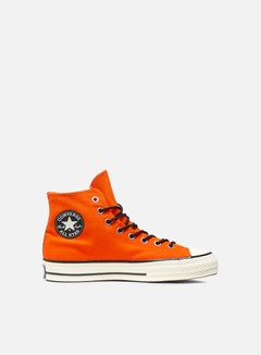 Converse - All Star 1970s Gore-Tex Hi Canvas, Bold Mandarin/Egret/Brown