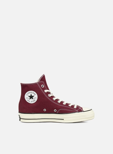 sneakers converse all star 1970s hi dark burgundy black egret