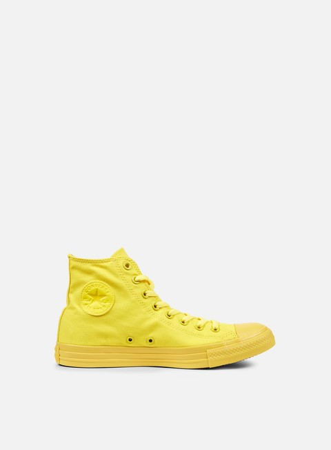 sneakers converse all star hi canvas aurora yellow monochrome