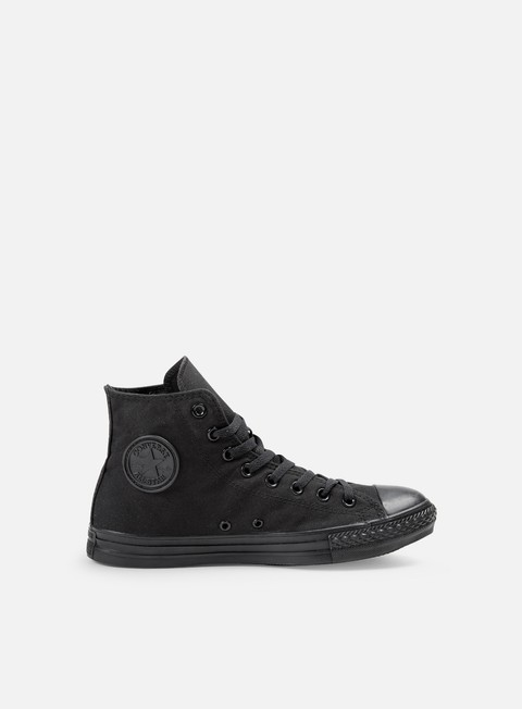 sneakers converse all star hi canvas black monochrome