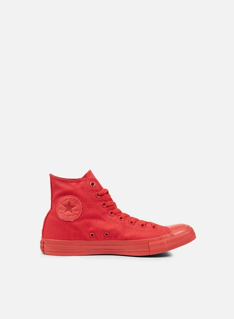 sneakers converse all star hi canvas casino red monochrome