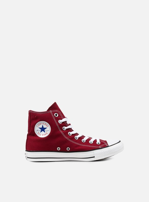 sneakers converse all star hi canvas maroon