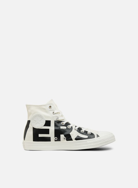 sneakers converse all star hi canvas natural black egret