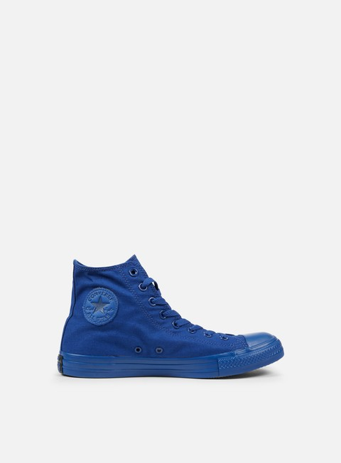 sneakers converse all star hi canvas road trip blue monochrome